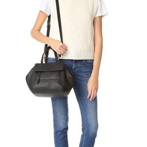 Handbags - Mint! Tory burch half moon small black satchel